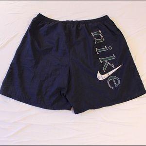Vintage 90s Nike Nylon Shorts White Tag Big Logo